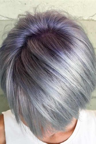 Frizura argitie cu violet