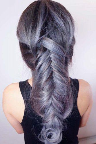 Par argintiu violet