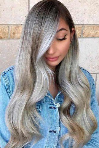 Par blond cu nunate argintii