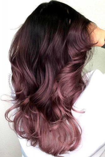 Par brunet inchis violet